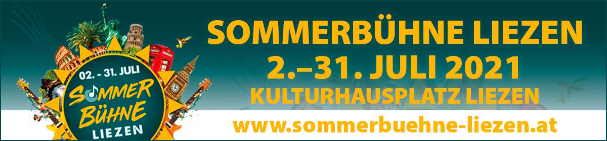 Sommerbühne Liezen 2.–31. Juli 2021