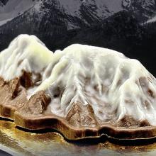Ein Berg aus Schokolade